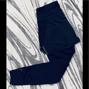 Athleta fleece lined leggings with attached skirt